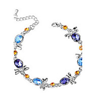 Ladies'/Women's Alloy Chain With Crystal Bracelet(More Color)