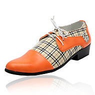 Men's Shoes Wedding/Office & Career/Party & Evening Leather Oxfords White/Orange