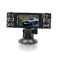 F600Car Dvr 2.7 Inch 120 Degree View Angle 4X Digital Zoom Dual Lens