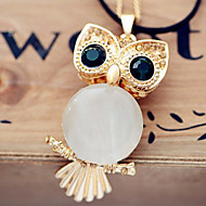 Lucky Star Women's Vintage Small Owl Chain Necklace