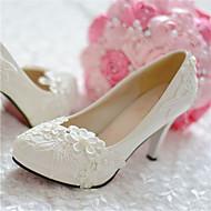 Dámské - Svatební obuv - Podpatky / Špičatá špička - Lodičky - Svatba / Party - Bílá