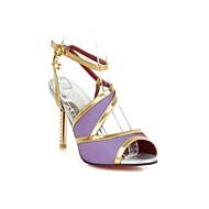 Women's Shoes Heel Heels / Peep Toe Sandals / Casual Black / Blue / Purple / Red / Beige/226