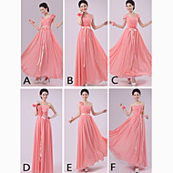 Mix & Match Dresses Floor-length Chiffon 5 Styles Bridesmaid Dresses (2840140)