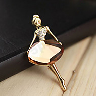 Lucky Star Women's Fashion Rhinestone Dancer Brooch