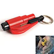 venster glasbreker hamer gordel snijder met sleutelhanger mini-auto redding nood gereedschap (willekeurige kleur)