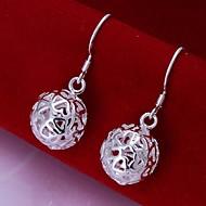 European The Hollow Ball 925 Silver Drop Earrings(2Pc)