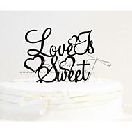Kuchendeckel Acryl-Liebe ist süßer Kuchendeckel