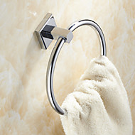 Brass Material Chrome Finish Circular Shape Towel Ring