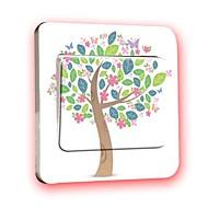 스위치 벽 스티커 벽 데칼, 창조적 인 나무 PVC 스위치 스티커