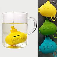 söpö silikoni sukellusvene teetä infuser (random väri)