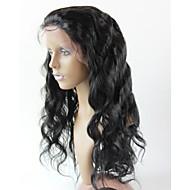 """brazilian menneskehår blonder foran parykker 130% # 1 # 1b # 2 # 4 krop bølge limfri parykker hår 10 """"-30"""""""