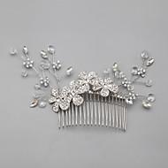 Peigne/Fleurs Casque Mariage/Occasion spéciale/Casual Strass/Cristal/Alliage/Imitation de perle Femme/Jeune bouquetièreMariage/Occasion