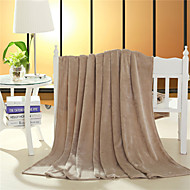 Beige Flannel Blanket 200x230cm