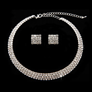 Ladies'/Women's Cubic Zirconia/Alloy Jewelry Set Cubic Zirconia