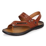 Men's Summer Comfort Leather Outdoor Casual Brown Yellow