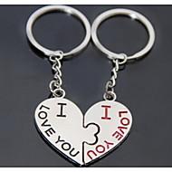 καρδιά φιλί ρομαντικό γάμο κλειδί μπρελόκ δαχτυλίδι για την ημέρα του εραστή του Αγίου Βαλεντίνου (ζεύγος)