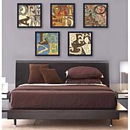 Slova & Citáty Kanvas v rámu / Set v rámu Wall Art,PVC Černá Bez pasparty s rámem Wall Art