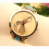 Fashion Women's Giraffe National Weaving South Korea Style Chain DIY Watch Cool Watches Unique Watches