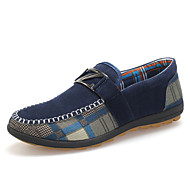 Men's Shoes Casual Suede Loafers Blue