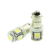 bax9s H6W led blauw / rood / warm wit / groen / geel / wit 1.5W 5x5050smd 90lm voor auto-lamp (dc12-16v)