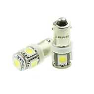 bax9s h6w LED azul / vermelho / branco quente / amarelo branco 90lm / verde / 1.5W 5x5050smd para carro lâmpada (dc12-16v)