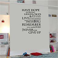 αυτοκόλλητα τοίχου αυτοκόλλητα τοίχου, αγγλικές λέξεις&αναφέρει αυτοκόλλητα PVC τοίχο