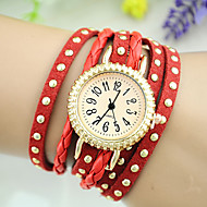 Women's European Style Fashion Rivets Multilayer Weave Bracelet Watch