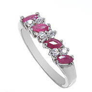 Women's Sterling Silver Ring with Ruby  More Sizes  SR0001R