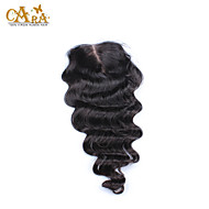 "10""-20"" Black Full Lace Loose Wave Human Hair Closure Medium Brown Chinese Lace 60g/piece gram Cap Size"