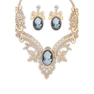 Lucky Star Women's Vintage Banqueting Necklace&Earrings Suits