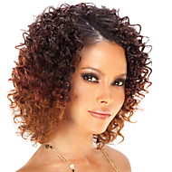 Women Brazilian Virgin Hair Color(#1 #1B #2 #4) Curly Hair Lace Front Wigs