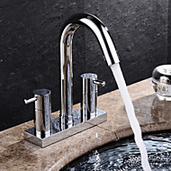 HPB® Widespread Two Handles Two Holes in Chrome Bathroom Sink Faucet