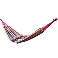 Tripolar,Outdoor Portable Cotton Rope Outdoor Swing Fabric Camping Hanging Hammock Canvas Bed 200*160cm FA1106X