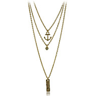 Alloy Metal of New Arrival Gold Plated Multi Layer Necklace Jewelry for Women