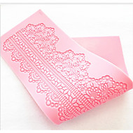 Fashion Cake Lace Shape Silicone Fondant Chocolate Decorating Mat Mold Kitchen Bakeware Baking Cooking Tools