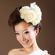 Women Cotton/Flax Flowers With Wedding/Party Headpiece