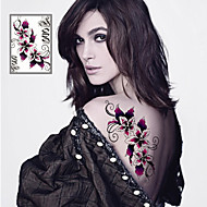 Sexy Flowers Tattoo Stickers Temporary Tattoos(1 Pc)