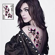 Tatuointitarrat Kukkasarjat - Paperi - Non Toxic/Viidakko/Alaselkä/Waterproof - Sexy Flowers - 21*14.5cm(8.3*5.7in) - Monivärinen - 1 pc -