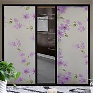 fialový květ skleněné dveře nálepka okenní fólie&samolepky (100 * 90 cm)