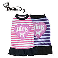 "DroolingDog®  Lovely ""Love And Pink Dog"" Pattern 100% Cotton Dress for Dogs (Assorted Color Assorted Sizes)"