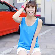 Women's Casual Sleeveless Regular Vest (Chiffon)