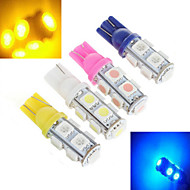2 pcs ding yao T10 5W 9X SMD 5050 1000LM K Cool White/Red/Blue/Yellow Halogen Bulbs DC 24/DC 12V