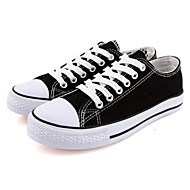 Women's Spring / Summer / Fall Round Toe Canvas Casual Flat Heel Lace-up Black / Red / White / Navy