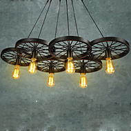 Ecolight® Loft Pendant Lights/Wheel Chandelier/Rustic/Vintage/Retro/Country/Dining/Entry/Game/Metal+Painting