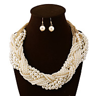 Women Vintage/Party/Work/Casual Alloy/Gemstone & Crystal/Imitation Pearl/Acrylic Necklaces/Earrings Sets