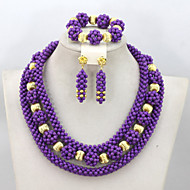 Fabulous Nigerian Wedding Beads Jewelry Set African Jewelry Sets 18K Turquoise Beads Fashion Jewelry Set