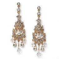 Damen Ohrring Gold/Legierung Diamant Drop Earrings