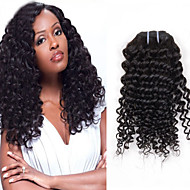 "1Pcs/Lot 8""-24"" Brazilian Virgin Hair,Color 1b Deep wave Hair Extensions Unprocessed Curly Hair Wave"
