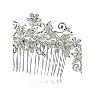 Alloy Clear Rhinestone Women Wedding Prom Girl Flower  Hair Comb