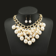 NEW Style Women's Clothing Accessories Tassel Pearl  Necklace Alloy  Wedding/Party Jewelry Set (Necklace+Earrings)